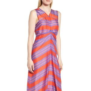 Lewit from Nordstrom - Stripe Silk Midi Dress